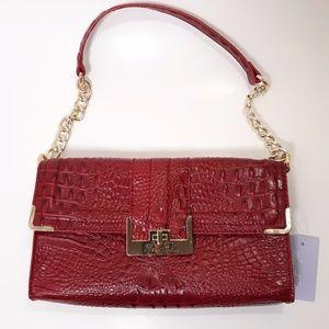 Marc Fisher Red Shoulder Bag Purse Crocodile Nwt